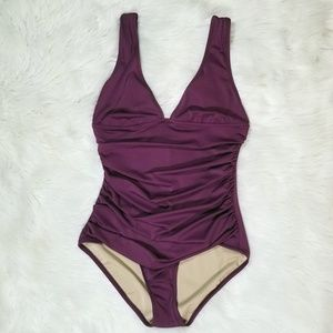 J Crew Ruched Femme One Piece Swimsuit